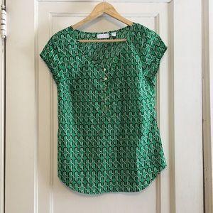 New York & Company printed blouse